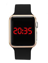 Недорогие -Муж. электронные часы Цифровой Pезина Черный 30 m Защита от влаги Творчество Новый дизайн Цифровой На каждый день Мода - Черный Розовое золото Лиловый