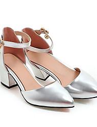 cheap -Women's Heels Chunky Heel PU Spring Gold / Silver / Pink / Daily