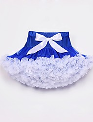 cheap -Kids Toddler Girls' Active Street chic Daily Going out Blue & White Color Block Skirt White
