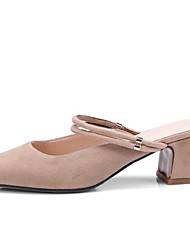 cheap -Women's Heels Chunky Heel Suede Spring Black / Almond / Daily