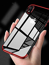 cheap -Case For Apple iPhone XS / iPhone XR / iPhone XS Max Plating / Ultra-thin Back Cover Solid Colored Soft TPU