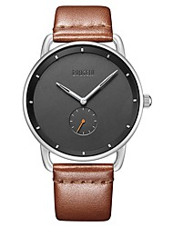 cheap -Men's Wrist Watch Japanese Japanese Quartz Genuine Leather Black / Brown 30 m Water Resistant / Waterproof Casual Watch Analog Casual - Black Brown