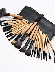 cheap -24pcs-makeup-brushes-professional-blush-brush-eyeshadow-brush-lip-brush-nylon-fiber-full-coverage-wooden-bamboo
