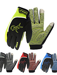 cheap -Winter Bike Gloves / Cycling Gloves Mountain Bike MTB Thermal / Warm Touch Screen Reflective Windproof Full Finger Gloves Touch Screen Gloves Sports Gloves Silicone Gel Terry Cloth Black Green Red for