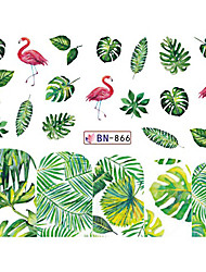 cheap -5 pcs Water Transfer Sticker Leaf / Fruit nail art Manicure Pedicure New Design / Best Quality / High quality, formaldehyde free Tropical / Sweet Christmas / Party / Evening / Daily