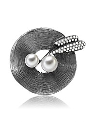 cheap -Women's Freshwater Pearl Brooches Rope Ladies Cartoon Romantic Ethnic Brooch Jewelry Black For Work Festival