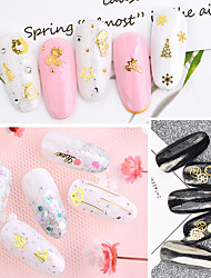 cheap -1 pcs Classic / Slim design Metal Alloy Sequins For Finger Nail Holiday Fairytale Theme nail art Manicure Pedicure Christmas / Daily Basic / Natural