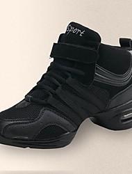 cheap -Women's Dance Shoes Mesh Dance Sneakers Splicing Sneaker Flat Heel Customizable Black / Performance