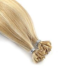 cheap -Neitsi Fusion / U Tip Human Hair Extensions Straight Remy Human Hair Human Hair Beige Blonde / Bleached Blonde