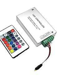 cheap -DC12V-24V 12A 144W 24Key IR Remote Controller Aluminum shell for RGB LED Strip 5050 3528 SMD