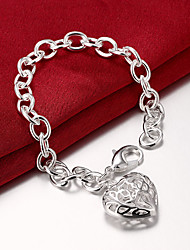 cheap -Women's Chain Bracelet Love Ladies Party Brass Bracelet Jewelry Silver For / Cubic Zirconia