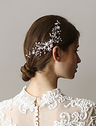 cheap -Alloy Hair Combs with Rhinestone 1 Piece Wedding / Party / Evening Headpiece