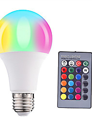 cheap -HRY 1pc 5 W LED Smart Bulbs 200-500 lm E26 / E27 A60(A19) 3 LED Beads SMD 5050 Dimmable Remote-Controlled Decorative RGBW 85-265 V / 1 pc / RoHS