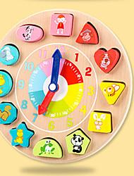 Недорогие -Конструкторы Часы обучения времени Игрушка Сортировщика Формы Животные Cool утонченный Детские Все Девочки 1 pcs