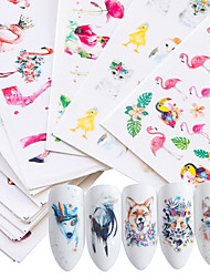 cheap -15 pcs Water Transfer Sticker Flamingo / Daisy nail art Manicure Pedicure New Design / Best Quality / High quality, formaldehyde free Tropical / Sweet Christmas / Party / Evening / Masquerade