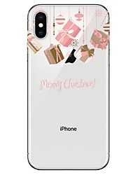cheap -Case For Apple iPhone XS / iPhone XR / iPhone XS Max Ultra-thin / Transparent / Pattern Back Cover Christmas Soft TPU