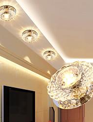 cheap -LED Crystal Ceiling Light Porch Light Corridor Lamp Aisle Light 1-Light 10 cm Flush Mount Lights Electroplated AC110-240V