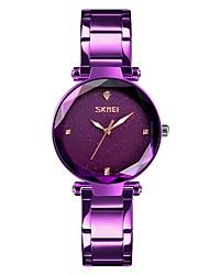 cheap -SKMEI Women's Wrist Watch Japanese Quartz Stainless Steel Black / Blue / Purple 30 m Water Resistant / Waterproof Calendar / date / day Stopwatch Analog Ladies Casual Fashion - Coffee Blue Rose Gold