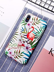 cheap -Case For Apple iPhone XS / iPhone XR / iPhone XS Max Pattern Back Cover Flamingo / Animal Hard PC