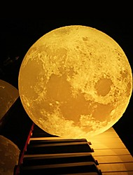 cheap -1pc 18cm 3D Print Moon LampLed Night Light Home Decor Creative Gift