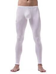 cheap -Men's Normal Nylon Touch of Sensation Long Johns Solid Colored Low Waist / Fall / Winter / 1 Piece / Skinny