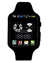 Недорогие -Жен. электронные часы Цифровой силиконовый Черный / Белый / Синий 30 m Защита от влаги ЖК экран Цифровой Мода - Зеленый Синий Светло-синий Один год Срок службы батареи