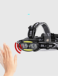 cheap -2504-B Headlamps Headlight Waterproof 800 lm LED LED Emitters 5 Mode Waterproof Adjustable Durable Camping / Hiking / Caving Hunting Black / Aluminum Alloy