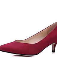 cheap -Women's Heels Low Heel Microfiber Summer Black / Purple / Red / Daily
