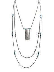 cheap -Women's Green Turquoise Pendant Necklace Beads Ladies Holiday Folk Style Boho Alloy Silver 80 cm Necklace Jewelry 1pc For Night out&Special occasion Masquerade