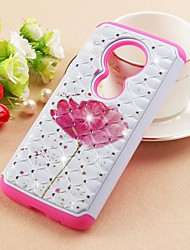 cheap -Case For Motorola Moto Z3 Play / MOTO G6 / Moto G6 Play Rhinestone / Pattern Back Cover Flower Hard PU Leather