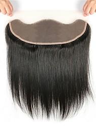 cheap -Fulgent  Sun Brazilian Hair 4x13 Closure Straight Free Part Swiss Lace Human Hair Women's Women / Best Quality / Hot Sale Christmas / Christmas Gifts / Wedding / Fashion