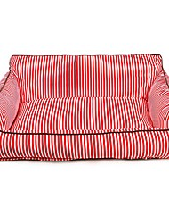 cheap -Dog Mattress Pad Bed Bed Blankets Portable Warm Soft Pet Mats & Pads Fabric Stripes Red Blue