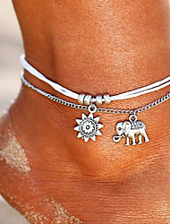 cheap -Women's Barefoot Sandals Ankle Bracelet Single Strand Romantic Anklet Jewelry Silver For Street Going out