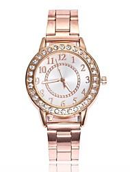 Недорогие -Жен. Нарядные часы Diamond Watch золотые часы Кварцевый Серебристый металл / Золотистый / Розовое золото Новый дизайн Повседневные часы Аналоговый Дамы Мода Элегантный стиль - / Один год / Один год