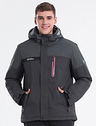 cheap -LanLaKa Men's Ski Jacket Skiing Snowboarding Winter Sports Thermal / Warm Waterproof Windproof POLY Winter Jacket Ski Wear