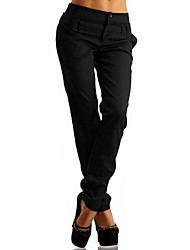 cheap -Women's Basic Plus Size Daily Harem Pants - Solid Colored High Waist Winter Blue Black Khaki XXXL XXXXL XXXXXL