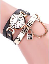 cheap -Women's Bracelet Watch Wrist Watch Analog Quartz Ladies Creative Casual Watch / Quilted PU Leather
