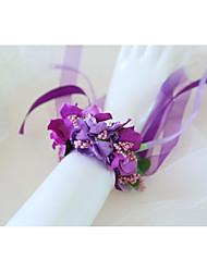 cheap -Wedding Flowers Wrist Corsages Wedding / Wedding Party Silk Like Satin / Fabrics 0-10 cm