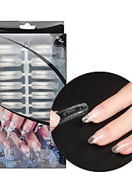 cheap -1 set Plastic Crystal Clear Tips For Finger Nail Ergonomic Design / High Transparency / Best Quality Romantic Series nail art Manicure Pedicure Trendy / Elegant Party / Evening / Daily