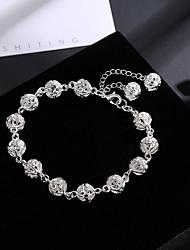 cheap -Women's Bead Bracelet Beads Ball Ladies Vintage Elegant Alloy Bracelet Jewelry Silver For Holiday Work
