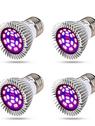 cheap -Grow Light LED Plant Growing Light 8 W Growing Light Bulb 640 lm E14 GU10 E26 / E27 18 LED Beads SMD 5730 Full Spectrum Warm White White Red 85-265 V