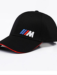 cheap -Men's Basic Polyester Baseball Cap-Solid Colored Black