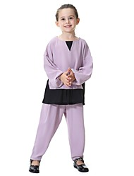cheap -Kids Girls' Active Basic Street chic Party Daily Beach Patchwork Long Sleeve Regular Clothing Set Gray