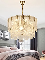 cheap -12 Bulbs 60 cm Gold Chandelier Pendant Light Glass Electroplated Chic & Modern 110-120V 220-240V