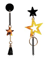 cheap -Women's Black Drop Earrings Mismatched Long Star Ladies Artistic Unique Design Dangling Earrings Jewelry Black For Party Party / Evening 2pcs