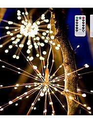 cheap -30cm*8 Smart Lights 120 LEDs 1 set Warm White Cute Decorative Adorable AA Batteries Powered
