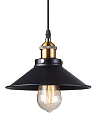 cheap -Vintage Black Metal Shade Mini Pendant Lights 1-Light Living Room Dining Room Hallway Pendant Lighting
