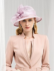 cheap -100% Linen Kentucky Derby Hat / Hats with Bowknot 1pc Wedding / Party / Evening Headpiece
