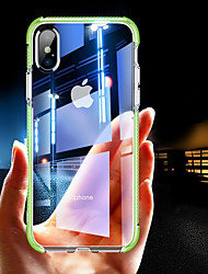 cheap -Case For Apple iPhone XS / iPhone XR / iPhone XS Max Shockproof / Transparent Back Cover Solid Colored Soft TPU