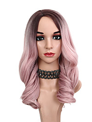 cheap -Synthetic Wig Wavy Bob Wig Ombre Long Ombre Color Synthetic Hair 18 inch Women's Party Classic Women Ombre